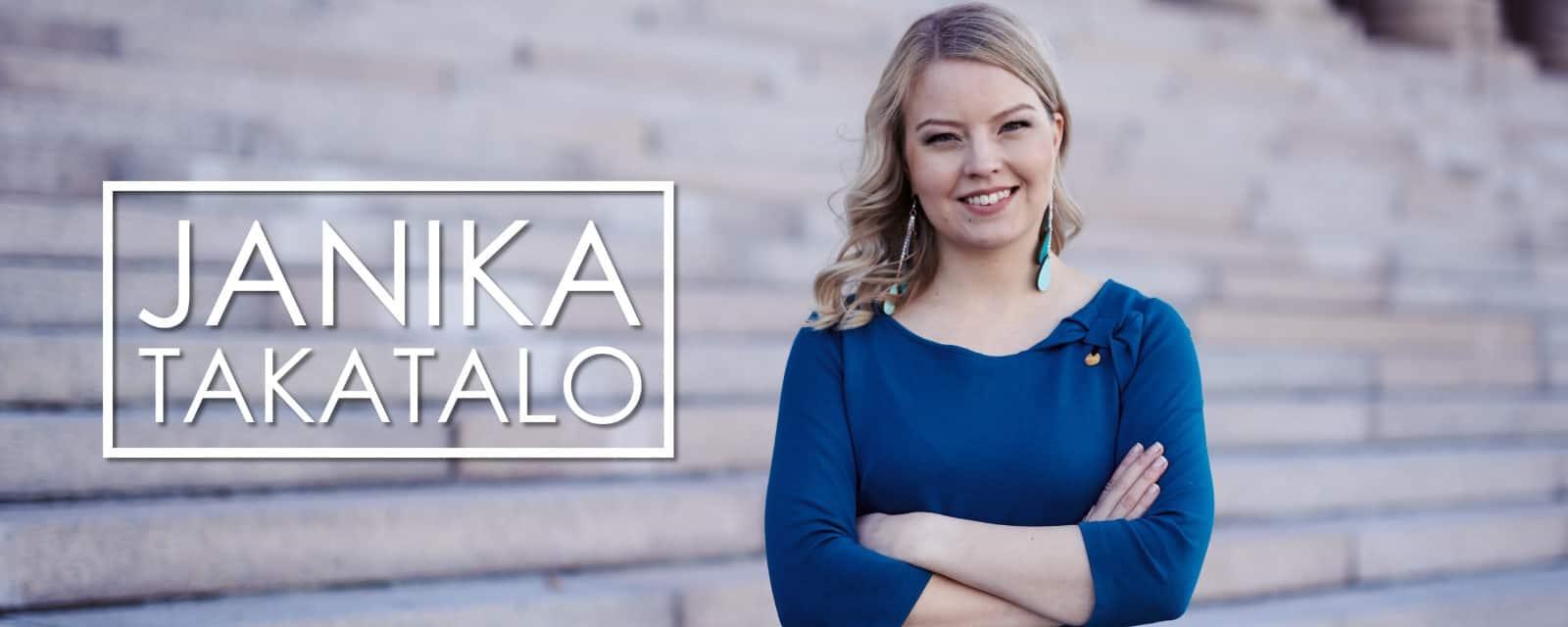 Salon Kokoomus, eduskuntavaaliehdokas Janika Takatalo, yrittäjä, sinivihreä, koulutus