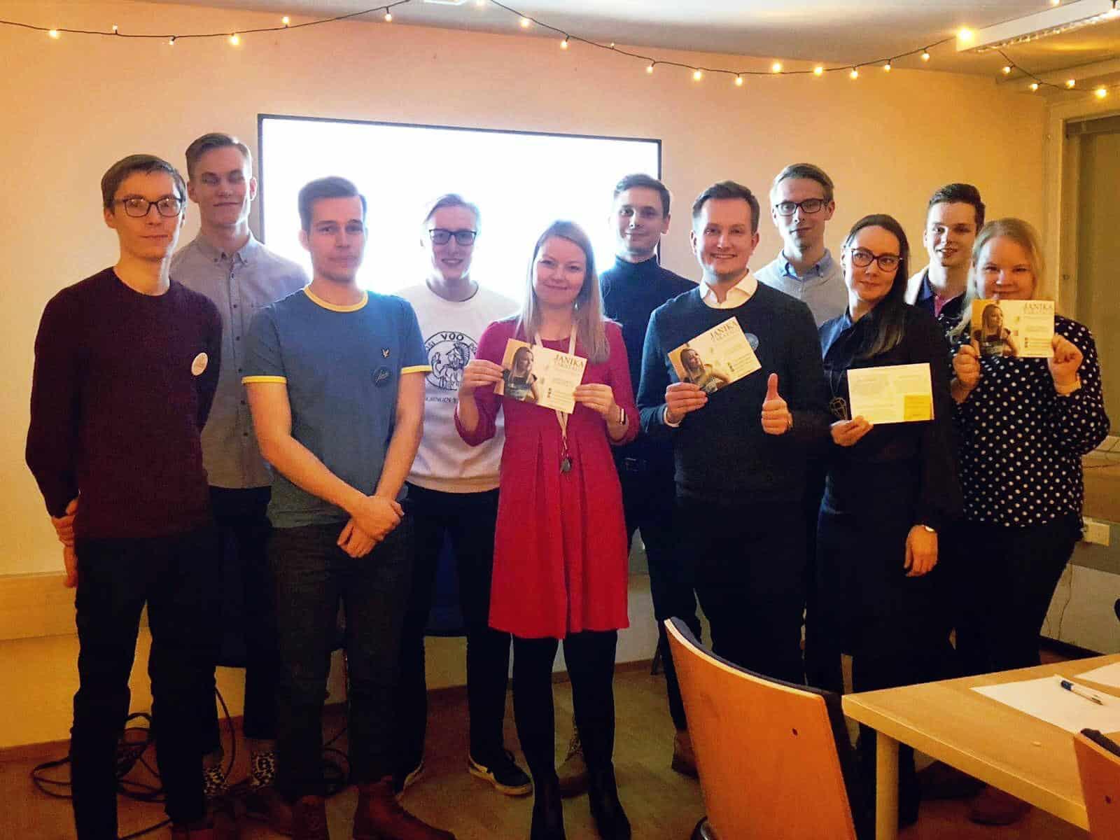 Eurovaalit2019 Helsinki, kokoomusopiskelijat, kokoomus, opiskelijat