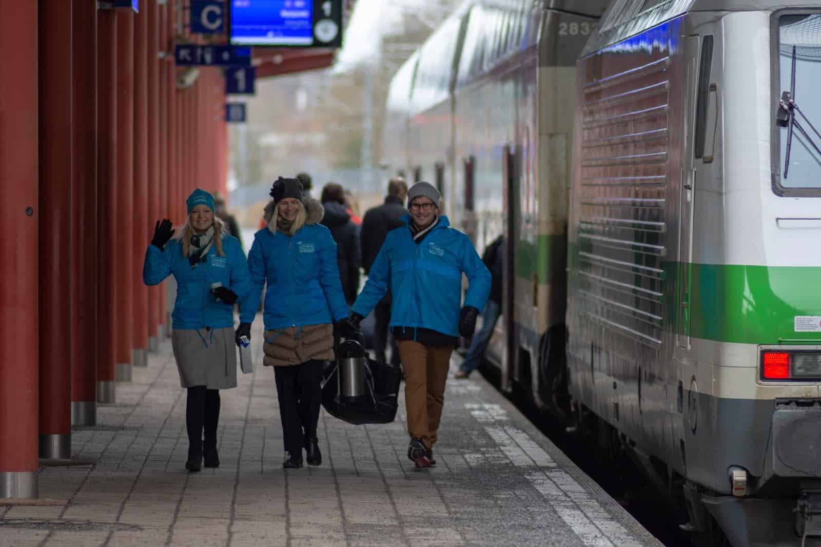 Salo, Salon juna-asemalla, Salon asemalla, Eduskuntavaalit 2019, tunnin juna, Turku, Kupittaa, Salo, #Takatalo2019, Varsinais-Suomi, Kokoomus