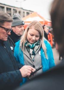 Kuopiossa, Lappeenrannassa, #meidäneu, eurovaaliehdokas, kokoomus, #Takatalo2019, sinivihreä, liberaali, moderni